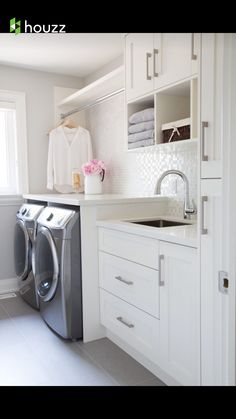 Clean and fresh laundry room
