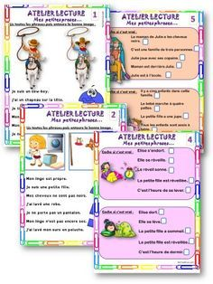 ATELIER LECTURE : Mes petites phrases CP / CE1 – ReCreatisse French Kids, French Class, Reading Intervention, Cycle 3, Learn French, Comprehension, Kids And Parenting, Homeschool, Classroom