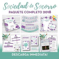 Todo el contenido que tenemos para las Sociedad de Socorro 2018 en un solo paquete CON DESCUENTO! Muchísimo material para imprimir, recortar y decorar la Cartelera de anuncios de la Sociedad de Socorro!