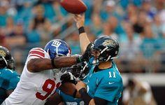 Giants Jaguars Football Blaine Gabbert, Justin Tuck
