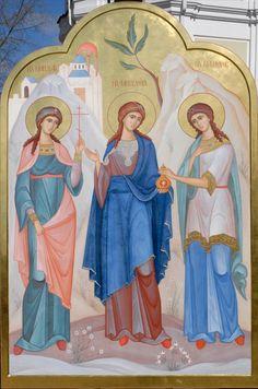 Αγίες Μηνοδώρα, Μητροδώρα & Νυμφοδώρα / Saints Menodora, Metrodora & Nymphodora