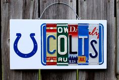 Indianapolis Colts License Plate Sign by Hippiedawg on Etsy