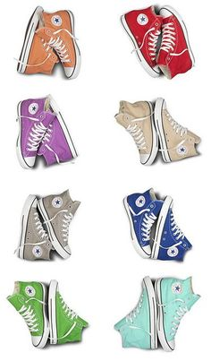 I am freaking crazy about converse! Wanna have all of these with other style too in my closet! Will wear each color with theme everyday! Once I get skinny legs I'll buy some high tops Mode Converse, Converse Sneakers, Converse All Star, Maroon Converse, Cheap Converse, Green Converse, Converse High, Sock Shoes, Cute Shoes