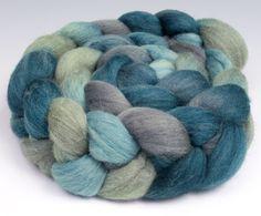 Polwarth+Silk+Top+RovingHandpainted+4+oz+by+RavenRidgeFiberArts,+$24.00