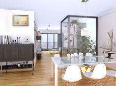 Salón de vivienda. Cliente: Bukart. Render por Icaras 2014