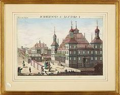 Lauritz.com - Samleobjekter og bøger - Tittskåpsvy över Stockholm ca 1750 - SE, Stockholms Auktionsverk, Palermogatan