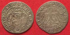 1514 Brandenburg BRANDENBURG-FRANKEN 1/2 Schilling 1514 FRIEDRICH IV silver RARE!!! VF # 83197 VF