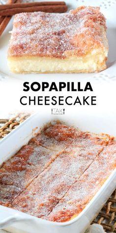 Sopapilla Cheesecake Recipe Mexican Dessert Recipes, Best Dessert Recipes, Sweet Recipes, Mexican Cheesecake Recipe, Best Desserts, Bar Recipes, Healthy Cheesecake Recipes, Dump Cake Recipes, Fall Desserts