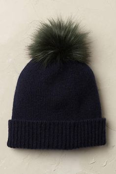 Anthropologie EU Arctic Cashmere Beanie. Ah, cashmere - our most treasured of textures. We are smitten with this oh-so soft classic beanie, accented with a vibrant pompom.
