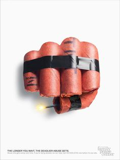 Fist or Dynamite? Sojourner Family Peace Center http://adsoftheworld.com/ media/print/sojourner_family_ peace_center_fists_2