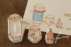 【ふわふわ堂】ふわスタンプ sheeps by fuwadou