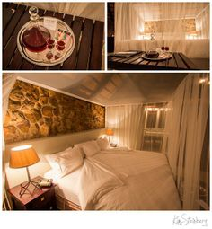 Welcome to your room at Leopard Mountain Game Lodge! We know you will enjoy your stay on this large bed with a luxurious view.