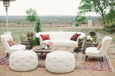 Boho Lounge Area with Loot Vintage / LivvyLand