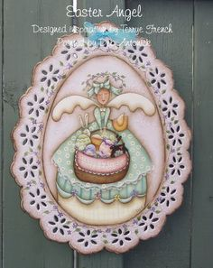 EPattern  Easter Angel by PaintingwithDeb on Etsy, $5.00