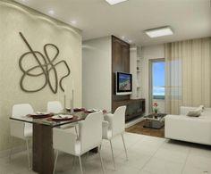 Soluções para apartamentos pequenos Small Apartments, Small Spaces, Condominium, Living Room Decor, Furniture, Home Decor, Light Shades, New Houses, Decorating Ideas