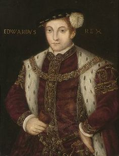 Portrait of King Edward VI (1537-1553), half-length, in a red doublet with gold embroidery, a glove in his right hand