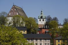 Porvoo Cathedral and the separate belltower  www.visitporvoo.fi