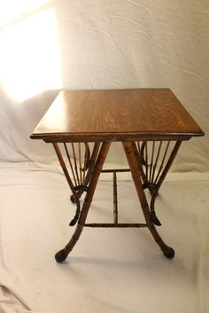 Great side end occasional table, c. 1920, featuring a rectangular top made of maple, over a beautiful bamboo base. Very sturdy and is ready to be enjoyed in your home. We have a large variety of antique furniture, lighting, mirrors, and decorative accessories in our 20,000 s/f showroom in the Lehigh Valley, PA. | eBay!
