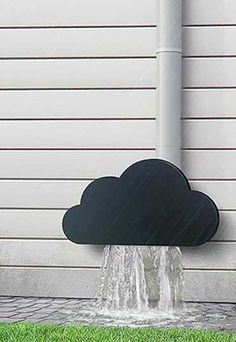30 Amazing Downspout Ideas, Splash Guards, Charming Rain Chains and Creative Rain Ropes Good Things, Make It Yourself, Home And Garden, Arquitetura E Design, Casa Ideal, Backyard, Sweet Home, My Dream Home, Home Projects