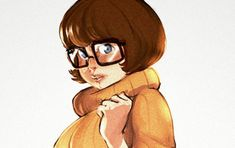 It's a special day when the quality of fan art exceeds the artistry of its animated source material. Then again, with Scooby-Doo, the bar was never set that high to … Continued Shaggy And Velma, Shaggy And Scooby, Velma Scooby Doo, Daphne And Velma, Velma Dinkley, Smosh, Female Characters, Disney Characters, Comic Books Art