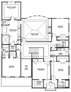 Home Plan : # 152-1010   Floor Plan Second Story  BLUEPRINT... I would remove a bedroom and convert... Love the walk in closet for Master