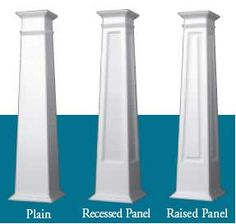 Craftsman PVC Columns- these wrap your existing columns.