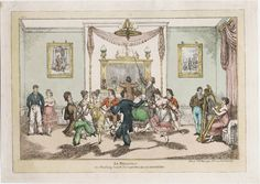 Le moulinet, or Practicing Quadrille dancing at home for fear of accidents at the ball, 1817. Lewis Walpole Library Digital Collection 817.05.00.05+