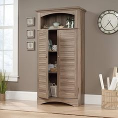 Best Rustic Themed Cabinets and Farm Home Cabinets! Do you need a place to store blankets and other household items? A new farmhouse cabinet can be just what you need. We have white, brown, grey, and dark brown cabinets that will fit a farm home, country home, and more. Rustic Storage Cabinets, Door Storage, Tall Cabinet Storage, Storage Shelves, Black Display Cabinet, Utility Cabinets, Harbor View, Hidden Storage, Adjustable Shelving