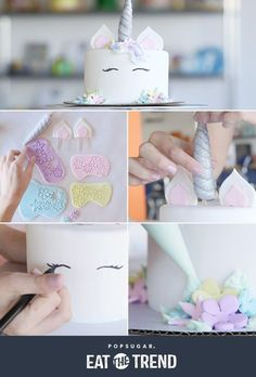 Prepare to be fascinated by this unicorn cake tutorial Do you want a Cake from yourself? Prepare to Be Mesmerized by This Unicorn Cake Tutorial 588 Source by KaraJaneB Diy Unicorn Cake, Bolo Original, Cake Decorating Tutorials, Cake Videos, Unicorn Birthday Parties, Birthday Ideas, Cake Tutorial, Cute Cakes, Eat Cake