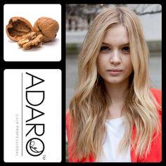 Pigmenti in GEL Adarò Noix - Noce Riflessa i capelli di un color dorato beige. Consigliato per ravvivare i biondi spenti e raggiungere queste tonalità. -Da un livello di fondo 5 ad uno 9.