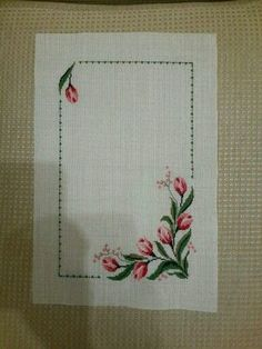 This Pin was discovered by HUZ Cross Stitch Heart, Cross Stitch Borders, Cross Stitch Alphabet, Cross Stitch Flowers, Cross Stitch Designs, Cross Stitching, Cross Stitch Embroidery, Hand Embroidery, Cross Stitch Patterns