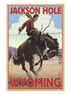 Jackson Hole, Wyoming Bucking Bronco