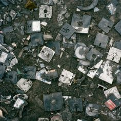 E-waste and other 'tech trash' end up at massive dump outside a slum known as Agbogbloshie (known as Sodom & Gommorah by locals). photo by Pieter Hugo. This org does good work to address the problem of e-waste: http://www.blacksmithinstitute.org/