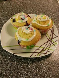 Orange blueberry cupcake