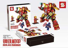 Marvel Iron Man MK46 Captain America 3 Civil War Minifigures Building Blocks 338pcs Superhero Sets Legoieds Children Gift Toys