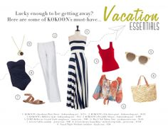 Wondering what to pack? Try some of our Vacation Essentials from KOKOON