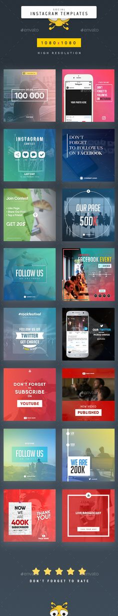 Social Instagram Templates Design - Social Media Web Element Template PSD. Download here: https://graphicriver.net/item/social-instagram-templates/17404408?ref=yinkira