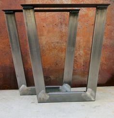 Conique Metal Table jambes 3'' x1.5'' tube par SteelImpression