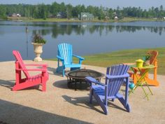 Yes, Will Have These For The Front Porch And Back Yard. Painted Adirondack  Chairs · Colorful ChairsPatio ...
