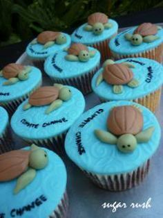 Russian Tortoise Diet Guide / Helpful Tips And Tricks Sea Turtle Cupcakes, Ocean Cupcakes, Turtle Birthday, Turtle Party, Turnip Greens, Protein Rich Foods, Green Cabbage, Bake Sale, First Birthdays