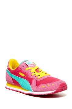 Puma | love the color combo - berry, pink, turquoise, yellow