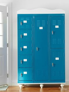 Charmant Roomy Lockers Offer Secure Hidey Holes That Can Be Labeled To Remind  Grown Ups And Kids What Is Stowed Where. Love This Freestanding Storage  Idea!