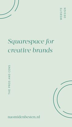 Squarespace for creative brands