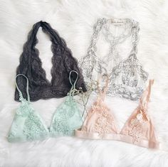 Pinterest: dopethemesz ; simple grey aesthetic; lace bralettes
