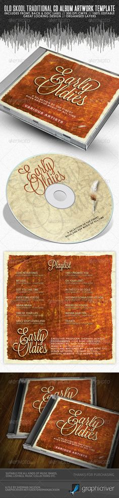 Old Skool Traditional CD Cover Artwork Template — Photoshop PSD #itunes #dvd artwork • Available here → https://graphicriver.net/item/old-skool-traditional-cd-cover-artwork-template/3988153?ref=pxcr