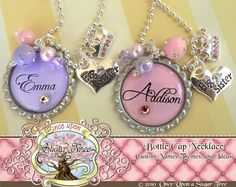 Personalized Princess BIG Sister or Little by onceuponasugartree