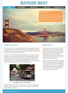 Figure A comp of the Bayside Beat home page layout Website Tutorial, Car Cost, Hill City, Add Image, First Website, Page Layout, Design Tutorials, Planets, Web Design