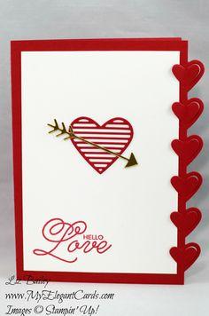 My Elegant Cards - Liz Bailey - Independent Stampin' Up! Demonstrator - Love Notes Framelits Dies - Sealed with Love Love Valentines, Valentine Day Cards, Love Stamps, Love Notes, Love Cards, Anniversary Cards, Stampin Up Cards, Card Making, Paper Crafts