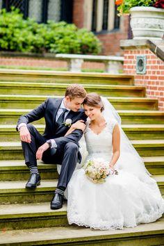 High school sweethearts: http://www.stylemepretty.com/ohio-weddings/akron/2015/04/13/high-school-sweethearts-elegant-ohio-wedding/ | Photography: Leo Timoshuk - http://www.leotim.com/