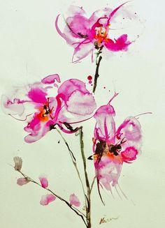 Latest Orchid Tattoos Design
